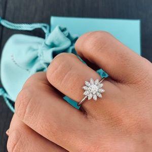 Tiffany & Co. Diamond Flower Ring